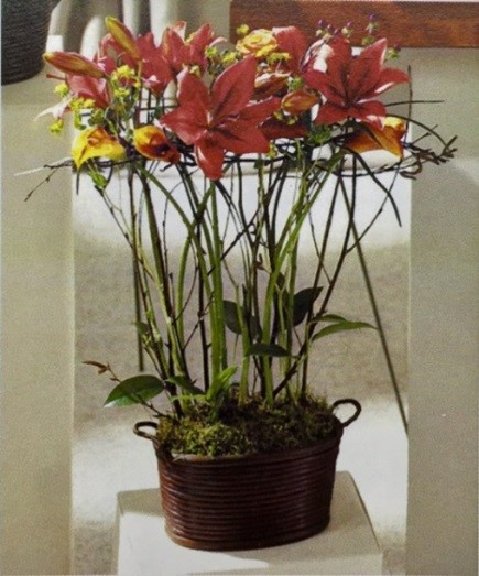 Contemporary Lily Basket