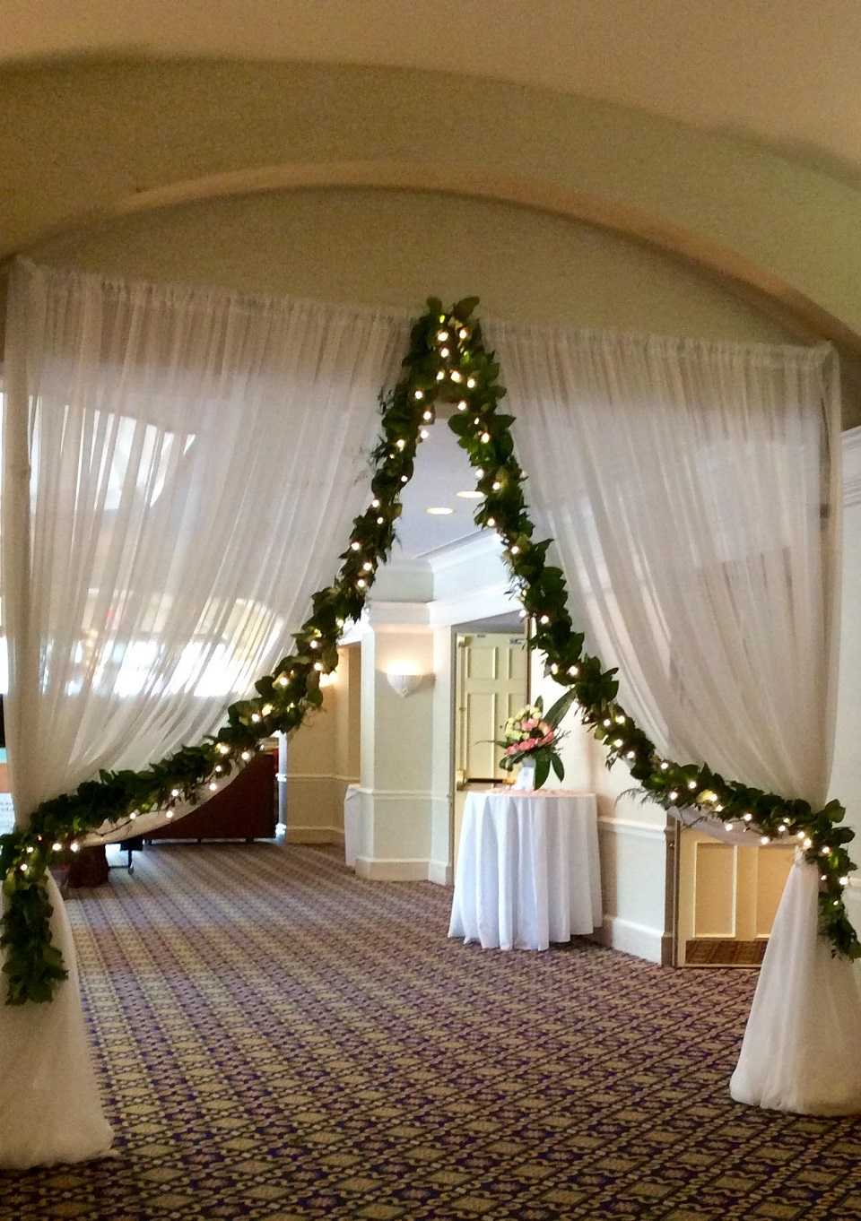 Entrance to Wedding Expo at Marriott Hotel South Point in Jacksonville, Florida